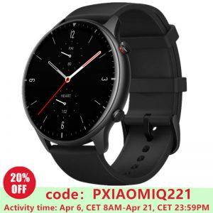 Έξυπνα δώρα AMAZFIT GTR 2, Smartwatch, 70 mm + 110 mm, Obsidian Black